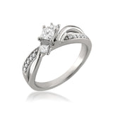 14k White Gold Three-Stone Princess-cut & Round Diamond Engagement Ring (3/8 cttw, I-J, I1-I2)