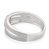14k White Gold Princess-cut Diamond Men's Brushed Matte Wedding Band Ring (1/4 cttw, I-J, I1-I2)
