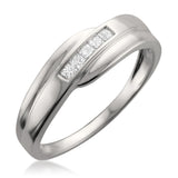 14k White Gold Princess-cut Diamond Men's Wedding Band Ring (1/4 cttw, H-I, I1-I2)