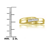14k Yellow Gold Princess-cut Diamond Men's Wedding Band Ring (1/4 cttw, H-I, I1-I2)