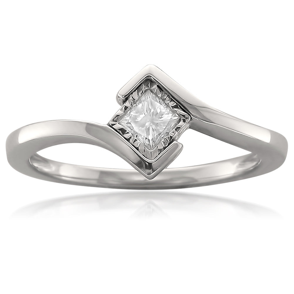 ring set rings i princess cttw engagement products solitaire bezel white gold diamond cut j