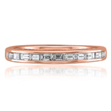 14k Rose Gold Baguette Diamond Bridal Wedding Band Ring (1/2 cttw, H-I, VS1-VS2)