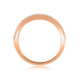 14k Rose Gold Round Diamond Micro-Pave Bridal Wedding Band Ring (1/4 cttw, H-I, VS2-SI1)