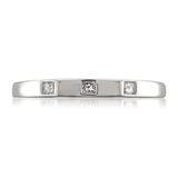 10k White Gold Princess-cut Diamond Bridal Wedding Band Ring (1/10 cttw, H-I, I1-I2)