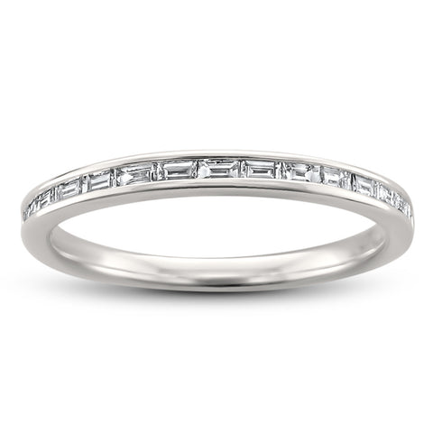14k White Gold Baguette Diamond Bridal Wedding Band Ring (1/4 cttw, H-I, SI1-SI2)