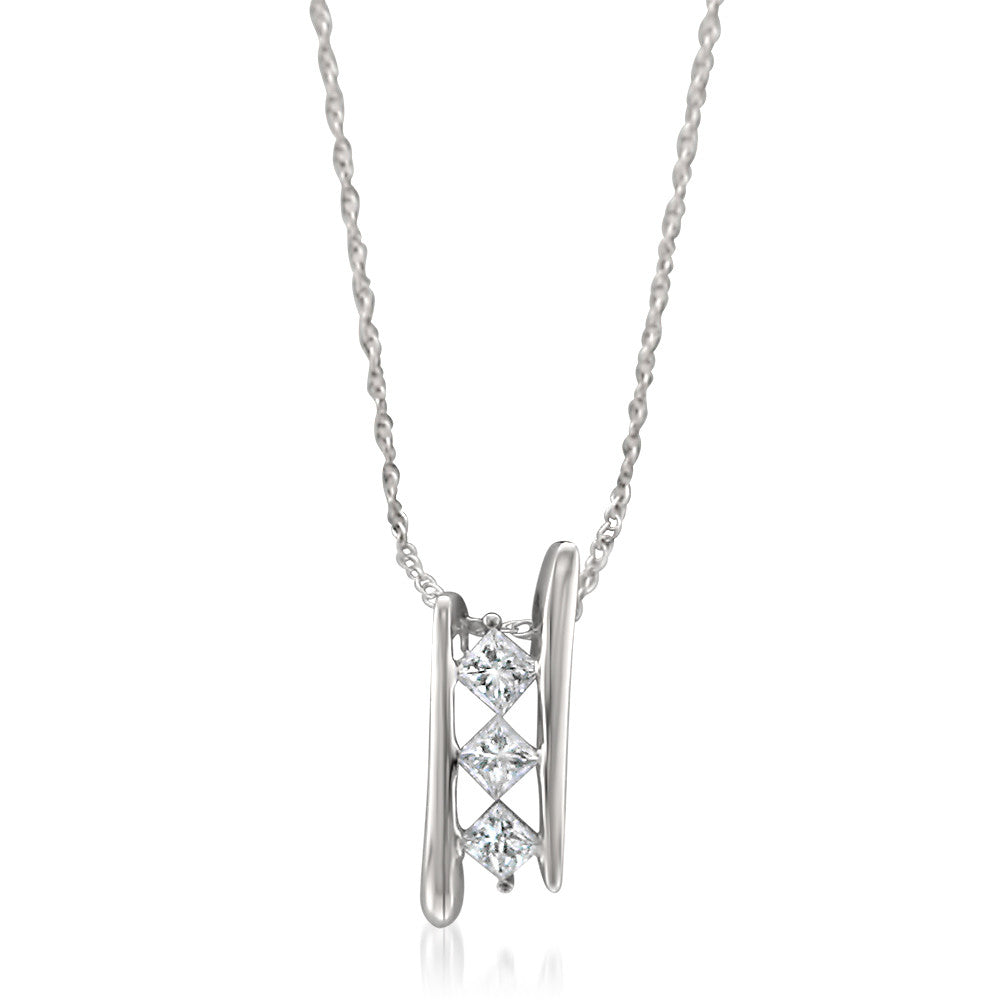 necklace rg tw solitaire k pendant cut and princess diamond t ct w off