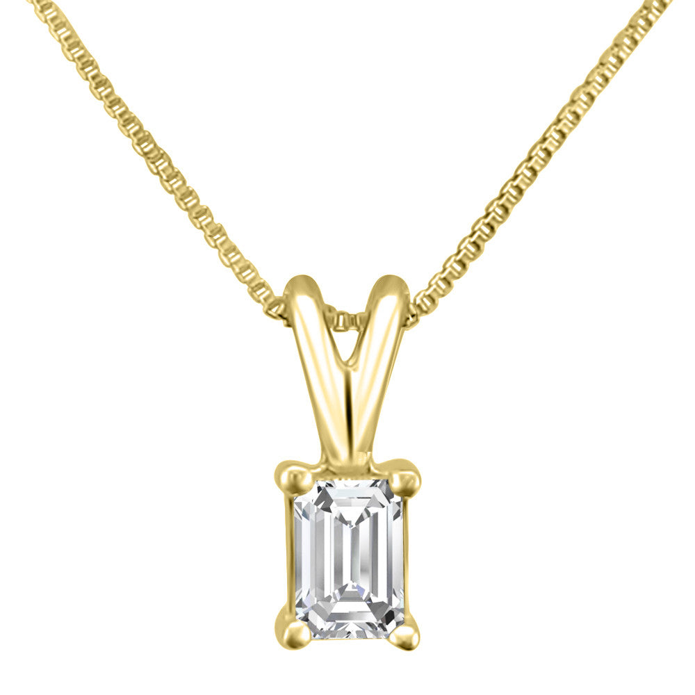pin gold carat delicate emerald necklaces diamond cut necklace