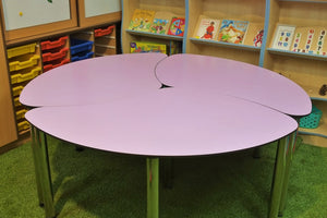 petal shaped school table