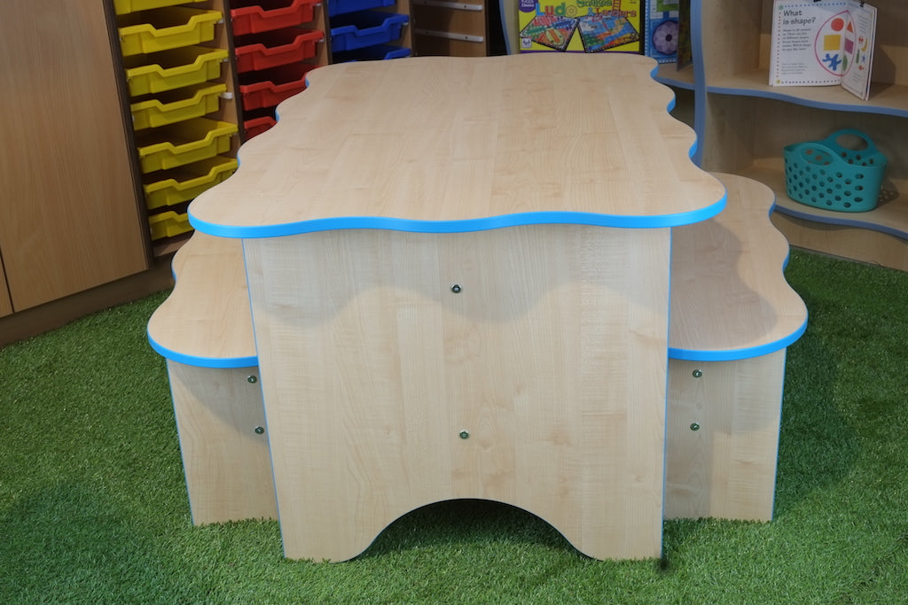 wave table and bench for schools