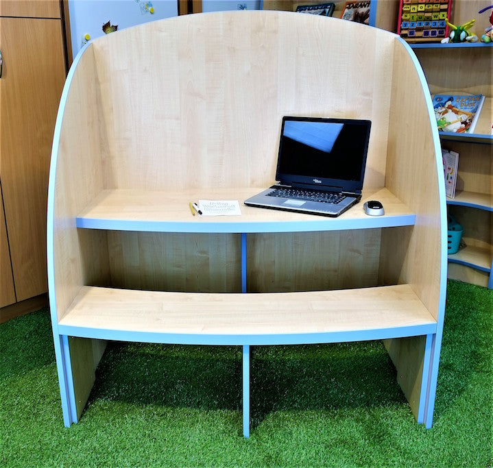 study booth for two people