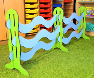 wavy picket fence for education