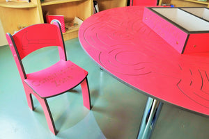 construction zone table and chairs set for education