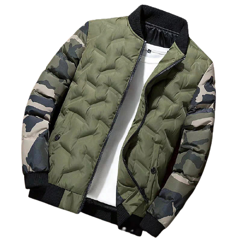 Quilted Men's Camo Jacket - darkside gadgets