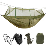 Two Man Nylon Parachute Hammock With Mosquito Net - darkside gadgets