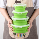 collapsible bowl set darkside gadgets green