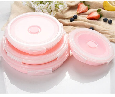 pink collapsible bowl set darkside gadgets