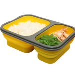 2 part meal collapsible container darkside gadgets yellow