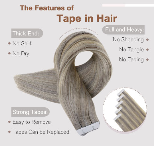 remy tape in hair