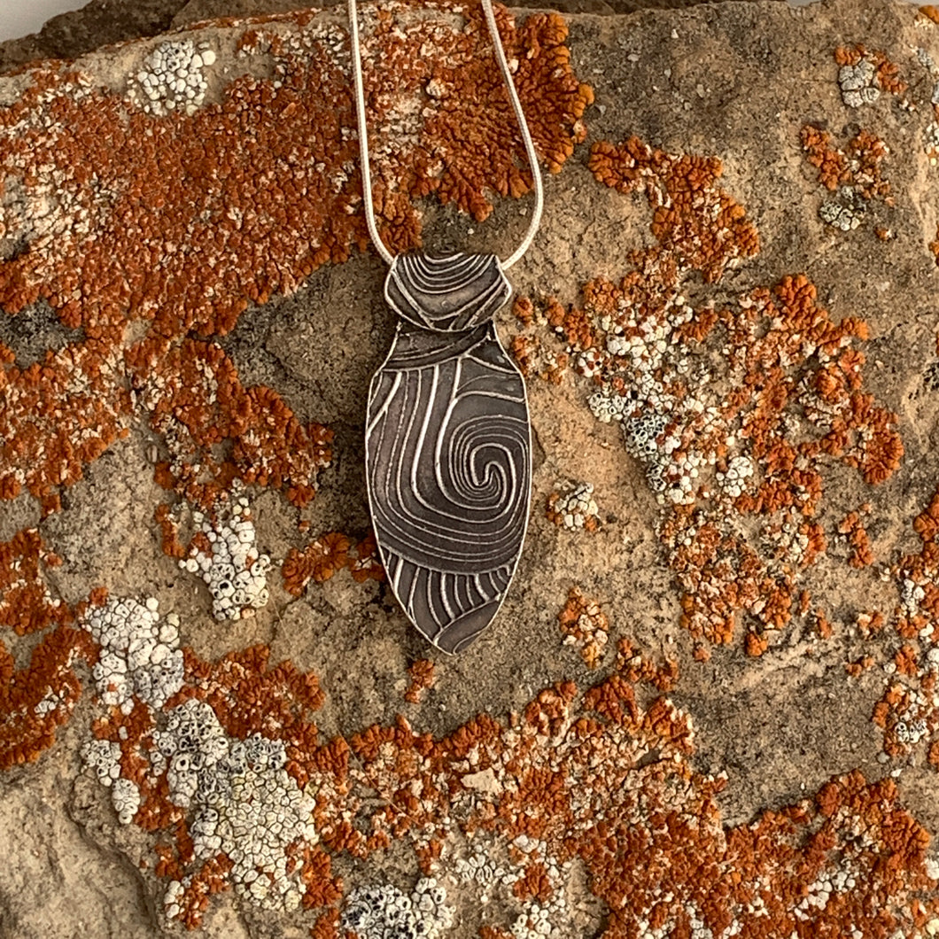 Geometric Shield Pendant