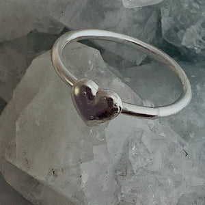 Medium stacking heart rings