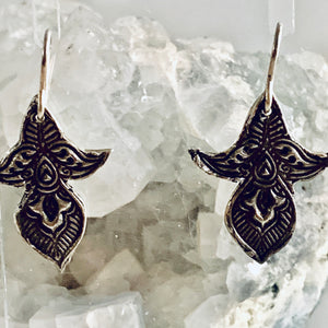 Flower Pod Sterling Silver Mandala Earrings