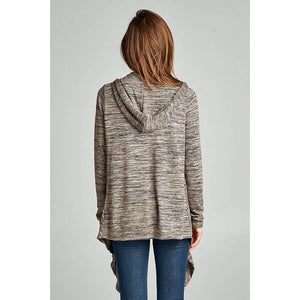 POCONO Cardigan Sweater Hoodie with Pockets