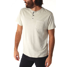 Load image into Gallery viewer, AVON Light Striped Henley Tee