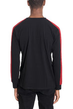 Load image into Gallery viewer, TROY Long Sleeve Tee with Side Stripes