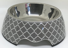 Load image into Gallery viewer, GREY LATTICE Pet Bowl