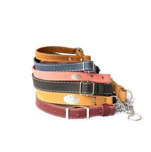 LEATHER MARTINGALE COLLARS in Various Colors and Sizes