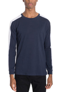 EDMOND Long Sleeve Tee with Side Stripes