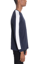 Load image into Gallery viewer, EDMOND Long Sleeve Tee with Side Stripes