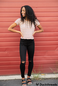 SANTA FE Striped Stretch Top