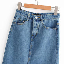Load image into Gallery viewer, ASHLEY Long Denim Skirt