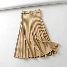 Load image into Gallery viewer, BALLANCHINE Long Pleated Skirt in Grey, Black or Khaki