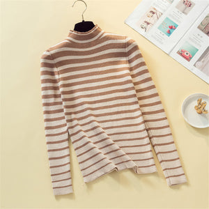 KIILLINGTON  Striped Turtleneck in 3 Colors - Small Only