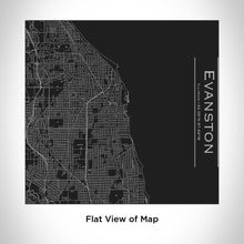 Load image into Gallery viewer, EVANSTON Illinois Map Tumbler in Matte Black