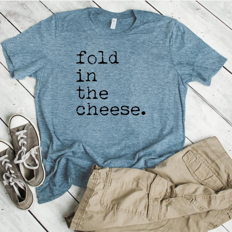 FOLD IN THE CHEESE T-shirt in Blue