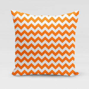 SYRACUSE Orange ZigZag Pillow Cover