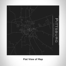 Load image into Gallery viewer, PITTSBURG Texas Map Tumbler in Matte Black