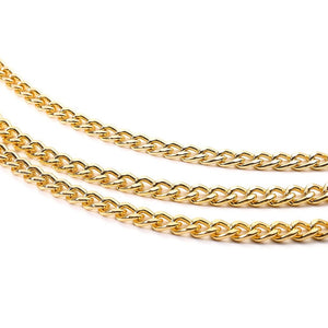 NICOLE Chain Belt in Gold or Silver