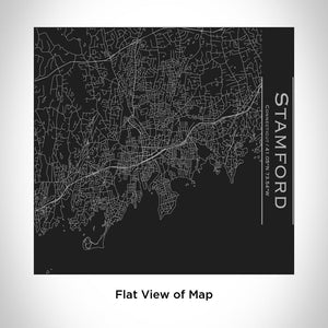 STAMFORD Connecticut Map Tumbler in Matte Black
