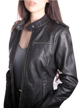 Load image into Gallery viewer, TULSA Fitted Black Leather Jacket ~ PLUS SIZES TOO