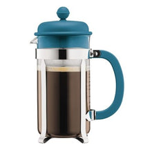 Load image into Gallery viewer, Bodum 8 Cup Caffettiera Limited Edition Colours Teal
