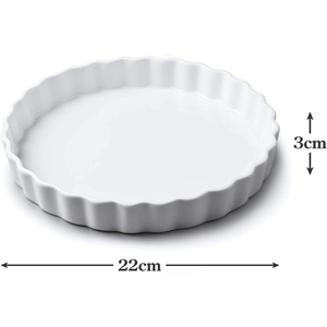 an image depicting the dimensions of the flan dish