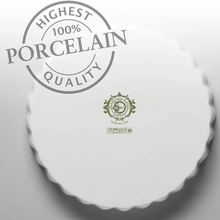 Load image into Gallery viewer, the 100% porcelain stamp at the base of the dish