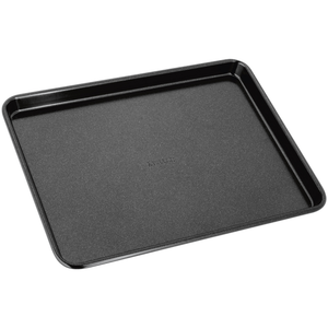 a small black baking tray with 'stellar' embossed on the centre of it