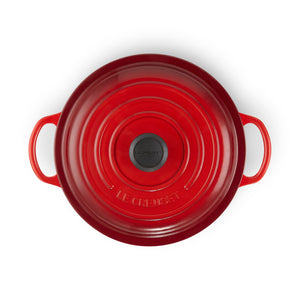 Le Creuset Signature Cast Iron Round Stew Pot 22cm - Cerise