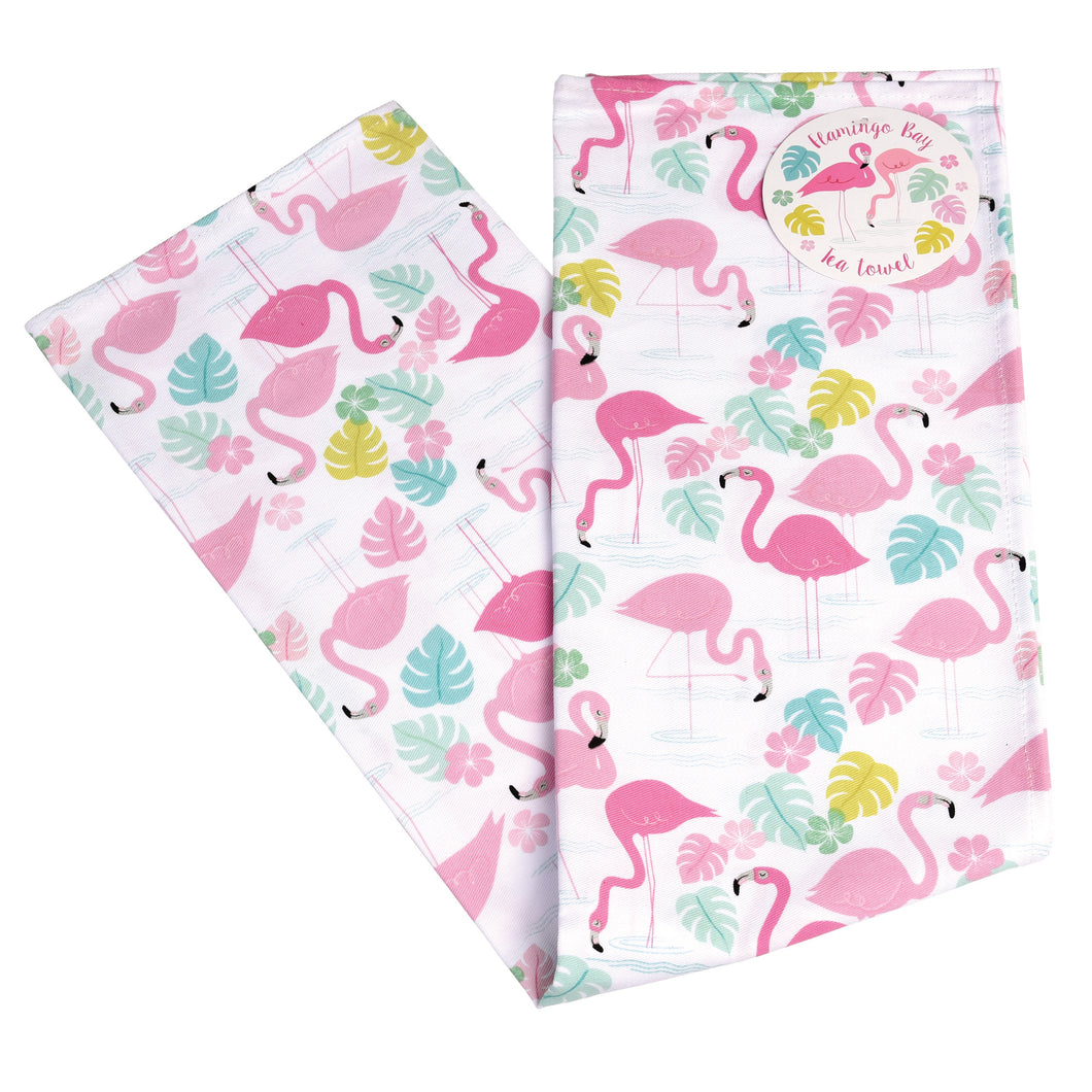 Flamingo Bay Cotton Tea Towel