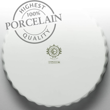 Load image into Gallery viewer, the 100% porcelain stamp at the bottom of the dish